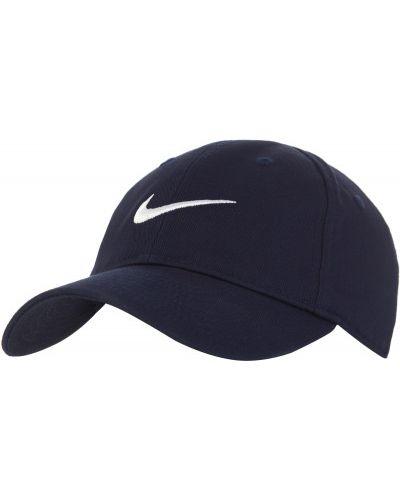 Хлопковая синяя бейсболка Nike
