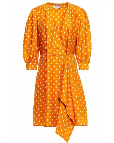 Шелковое платье мини на пуговицах с драпировкой Paul & Joe