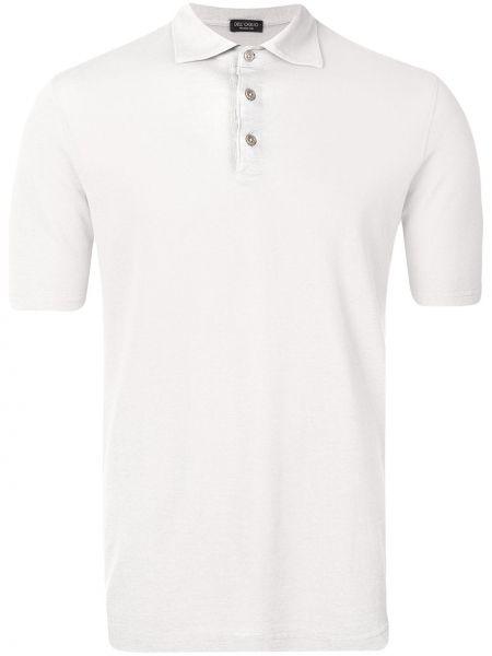 Koszula krótkie z krótkim rękawem klasyczna z kołnierzem Dell'oglio