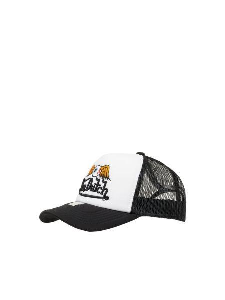 Biała czapka z daszkiem z haftem Von Dutch