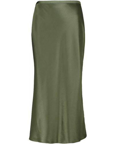 Сатиновая зеленая юбка миди на шпильке Polo Ralph Lauren