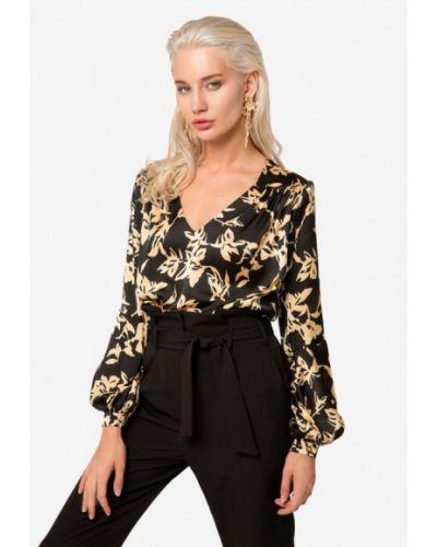Блузка с длинным рукавом осенняя черная Solou