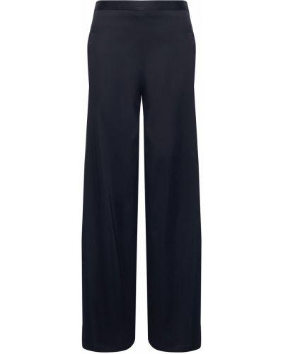Зауженные синие брюки с карманами Chalayan