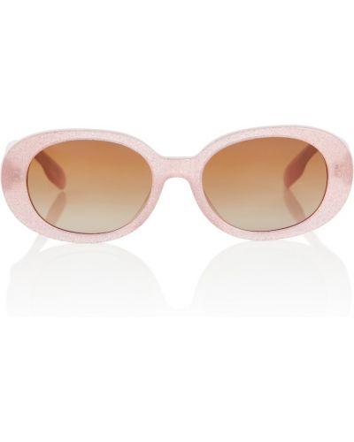 Różowe okulary Burberry Kids