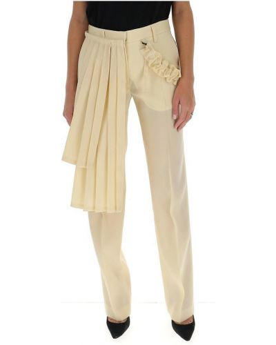 Białe spodnie z paskiem Off-white
