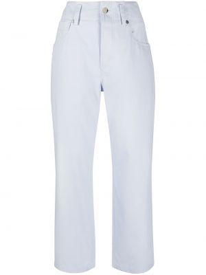 Хлопковые синие укороченные брюки с накладными карманами Sofie D'hoore