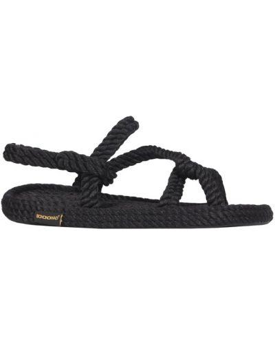 Czarne sandały Bohonomad