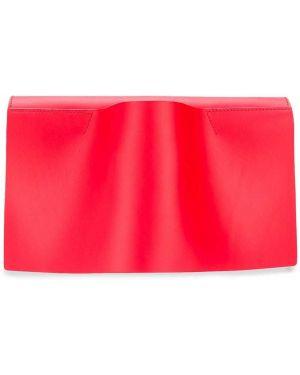 Кожаная с ремешком красная кожаная сумка Venczel