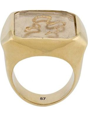 Золотистое кольцо золотое без застежки Goossens