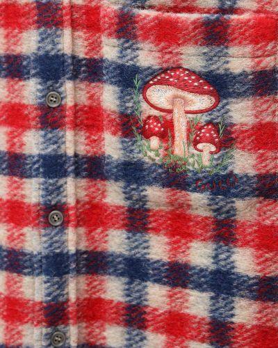Koszula z kołnierzem z kieszeniami z haftem z mankietami Gucci