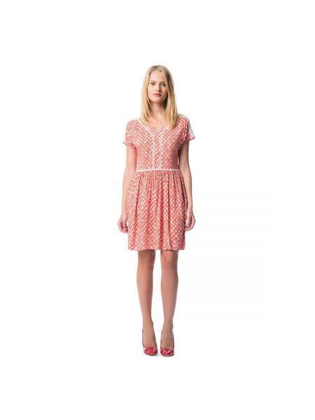 Расклешенное платье мини с V-образным вырезом с рисунком на молнии Best Mountain