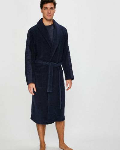 Халат с узором темно-синий Calvin Klein Underwear