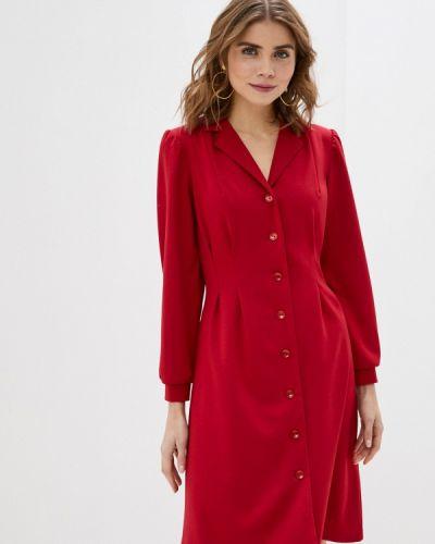 Повседневное красное платье Am One