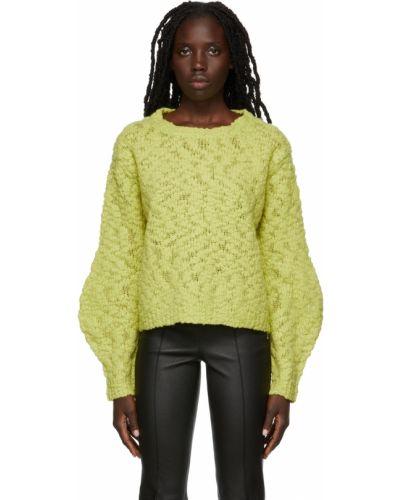 Sweter wełniany - zielony Helmut Lang
