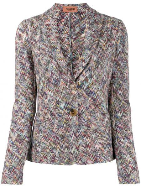 Синий удлиненный пиджак Missoni