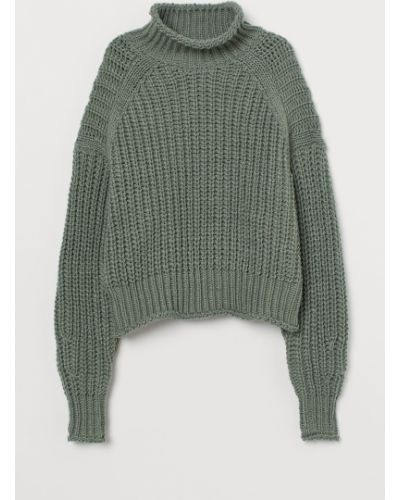 Шерстяной свитер - зеленый H&m