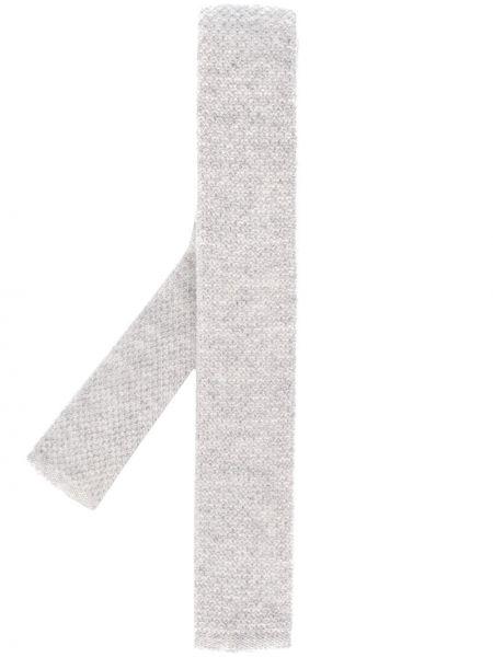 Трикотажный серый галстук квадратный N.peal