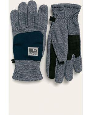 Niebieskie ciepłe rękawiczki z nylonu Under Armour