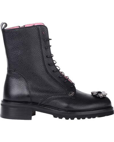 Ботинки на платформе кожаные осенние Blumarine