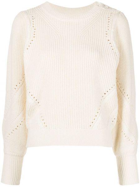 Кашемировый длинный свитер крупной вязки круглый Apiece Apart