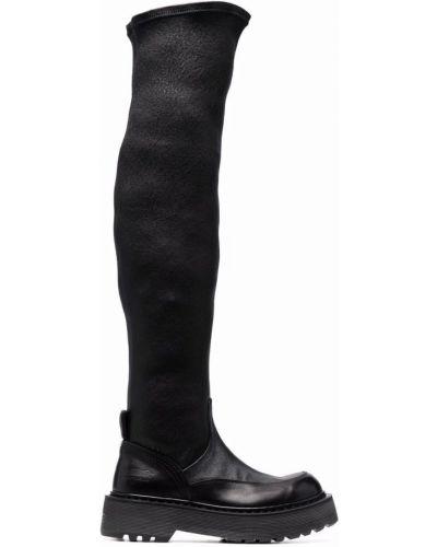 Кожаные ботфорты - черные Premiata