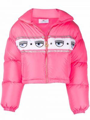 Розовая куртка на шпильке Chiara Ferragni