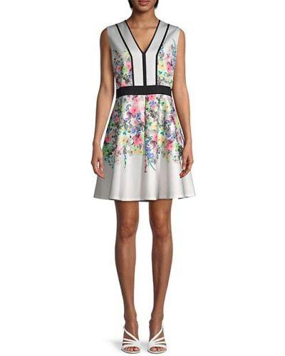 Бежевое платье А-силуэта без рукавов с V-образным вырезом Ted Baker London