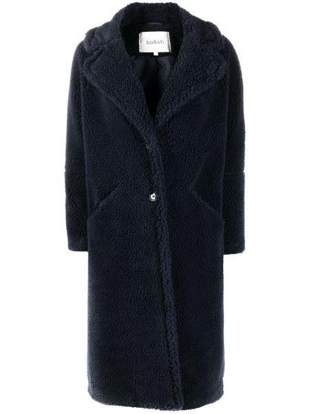 С рукавами синее длинное пальто оверсайз Ba&sh
