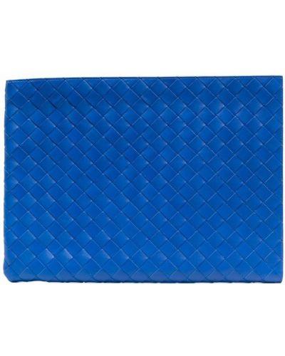Torebka srebrna - niebieska Bottega Veneta