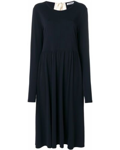 Платье миди платье-солнце с длинными рукавами Jil Sander