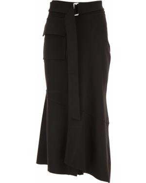 Czarna spódnica z paskiem z wiskozy Fuzzi