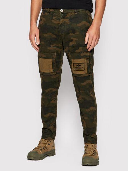 Zielone mom jeans Aeronautica Militare