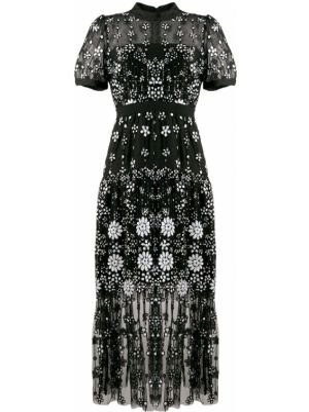 Платье мини миди с пайетками Self-portrait