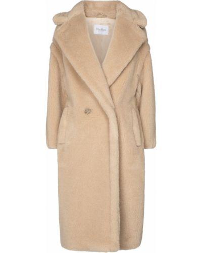 Beżowy płaszcz wełniany Max Mara