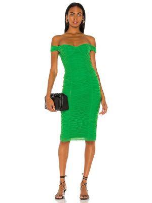 Sukienka midi elegancka - zielona Majorelle