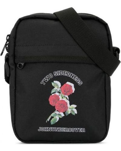 Мерцающая черная сумка через плечо Johnundercover