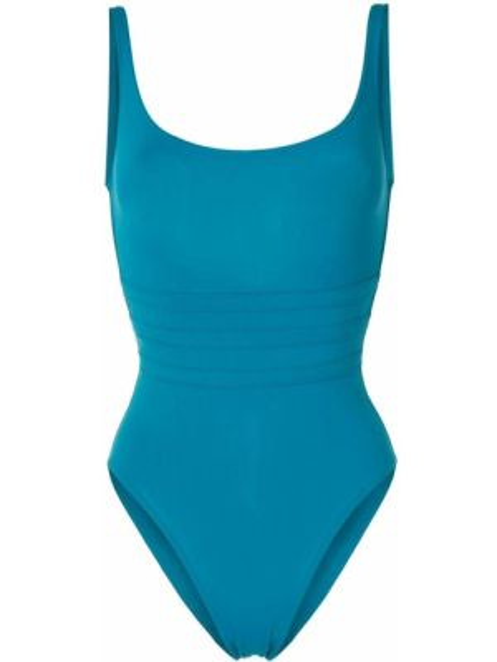 Синий пляжный слитный купальник с вырезом Eres