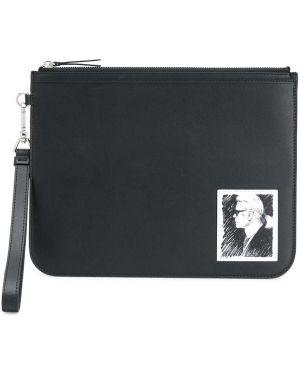 Клатч кожаный черный Karl Lagerfeld