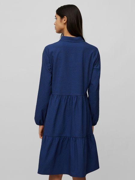 Синее джинсовое платье с длинными рукавами с воротником Marc O'polo Denim