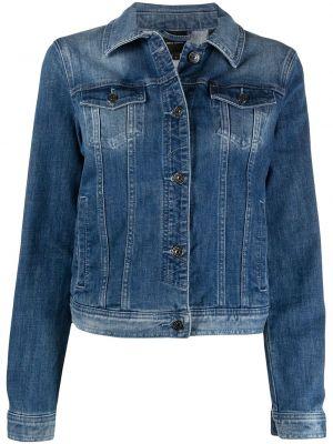 С рукавами синяя джинсовая куртка с воротником Armani Exchange