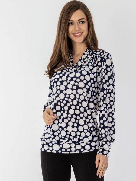 Блузка синяя осенняя S&a Style
