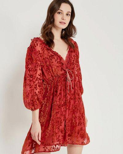 Платье - красное Sack's