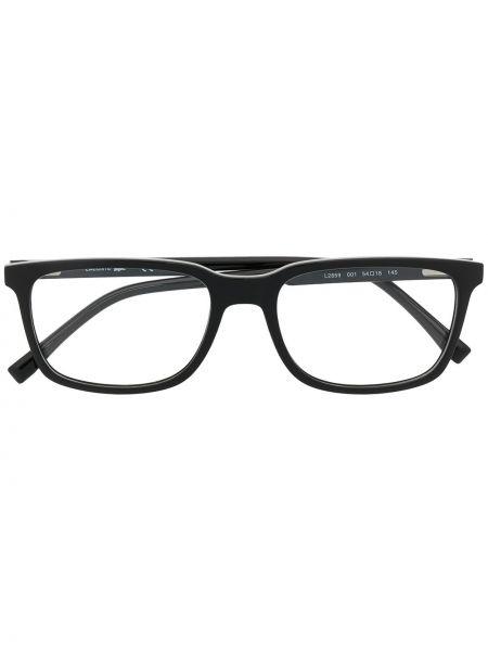 Прямые черные очки для зрения квадратные Lacoste