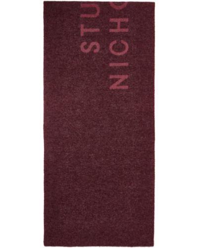 Шерстяной розовый шарф прямоугольный Studio Nicholson