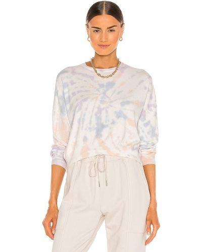 Fioletowa bluza dresowa miejska z printem Blanknyc