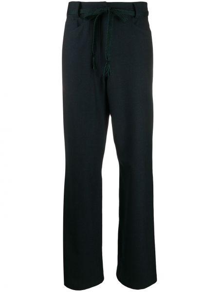 Шерстяные вязаные брюки с завязками свободного кроя Odeeh