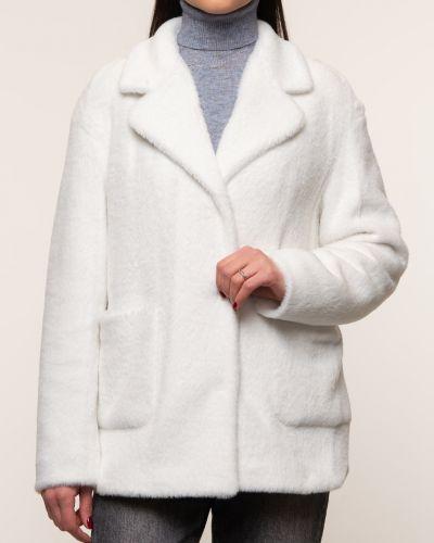 Прямая белая куртка с воротником синар