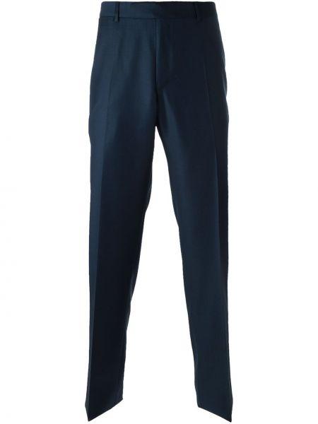 Шерстяные синие брюки Fashion Clinic Timeless