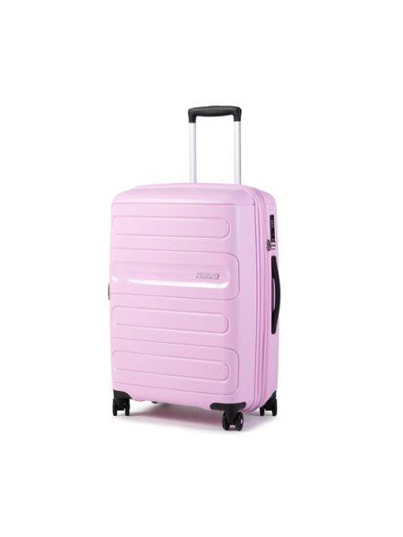 Różowa walizka duża American Tourister