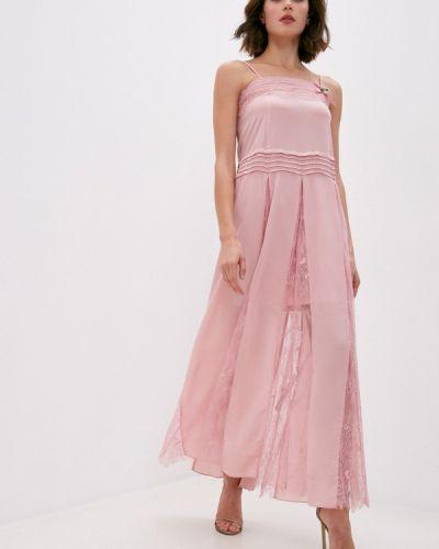 Розовое вечернее платье Twinset Milano